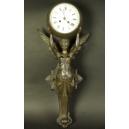 Zegar z aniołem. Cynkal. XIXw. wys. 60cm.