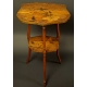 Intarsjowany stolik secesyjny. Sygn. P.B. 70cm x 45cm x 47cm