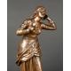 +JOANNA D'ARC, Etienne Henri Dumaige (1830-1888), brąz, Francja, 2 poł. XIX w.