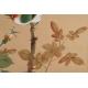 +PTAK NA BIAŁEJ RÓŻY, malowany na jedwabiu, Chiny, 1 poł. XX w.