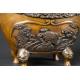 +KADZIELNICA - KORO, brąz, Japonia, era Meiji (1868-1912)  /