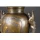 +PARA WAZONÓW Usubata, brąz - złoto - srebro, Japonia, era Meiji (1868-1912)