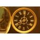 zegar kominkowy z głową
