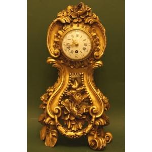Zegar Drewniany Neorokoko Francja Xix W Antyki