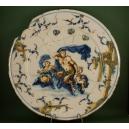 TALERZ (40 cm),  AGOSTINO RATTI, SAVONA, XVIII w.
